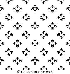 bloque, cadena, vector, concepto, seamless, patrón