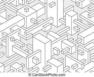 bloque, seamless, plano de fondo, 3d