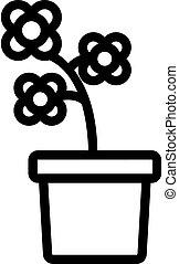blossom canola potting icon vector outline illustration - ...