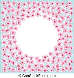 Blossom flowers frame