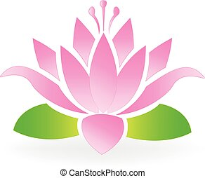 Blossom lotus flower logo