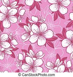 blossom , model, seamless, kers