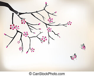 blossom painting