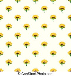 Blossoming sunflower pattern seamless vector