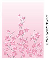 blossoms-vert, さくらんぼ
