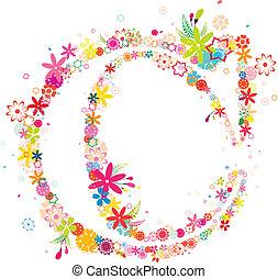 blossomy letter c pattern, created by adobe illustrator CS