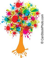 Blot abstract tree, vector