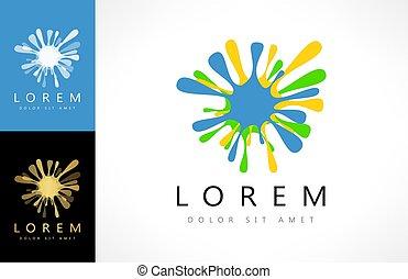 Blot logo vector design illustration.