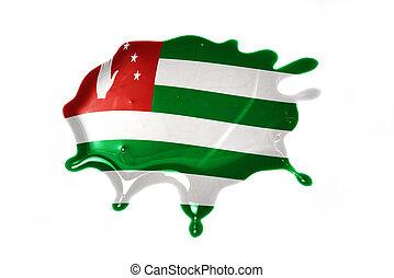 blot with national flag of abkhazia