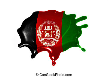 blot with national flag of afghanistan