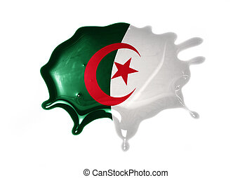 blot with national flag of algeria