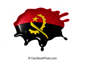 blot with national flag of angola