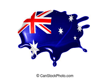 blot with national flag of australia