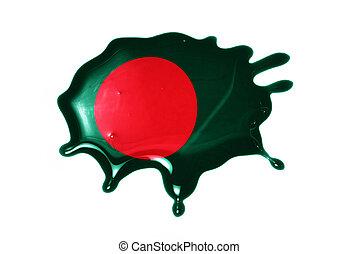 blot with national flag of bangladesh