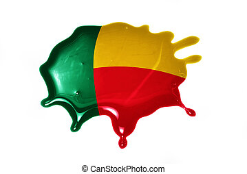 blot with national flag of benin