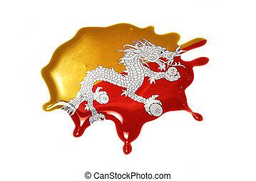 blot with national flag of bhutan