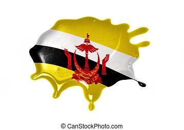 blot with national flag of brunei