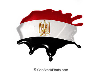 blot with national flag of egypt