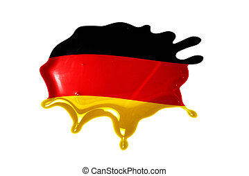 blot with national flag of germany