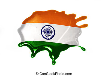 blot with national flag of india