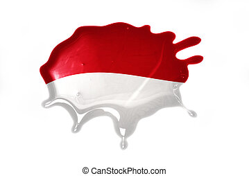 blot with national flag of indonesia
