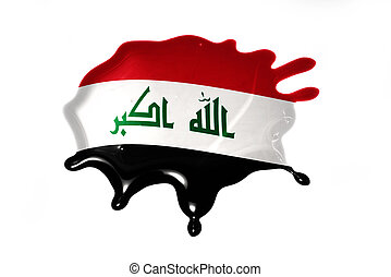 blot with national flag of iraq