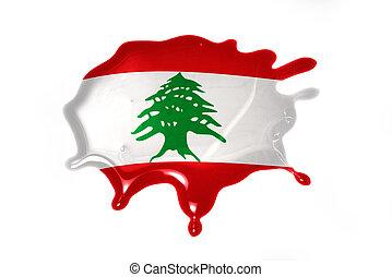 blot with national flag of lebanon