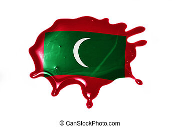 blot with national flag of maldives