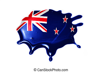 blot with national flag of new zealand