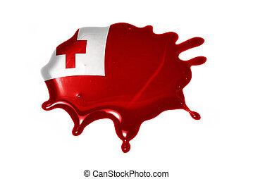 blot with national flag of Tonga