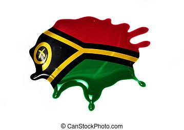 blot with national flag of Vanuatu