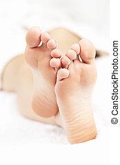 blote, ontspannen, voetjes