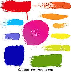 blots, conjunto, colorido
