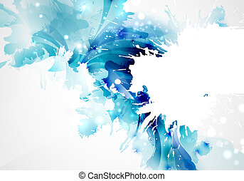 blots  - Abstract artistic Background forming by blots