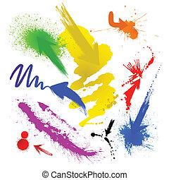 blots  - Abstract artistic blots of bright colors