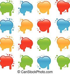 Blots - Four different shapes of blots in four different...