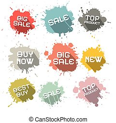 Blots - Splashes Vector Business Discount Labels