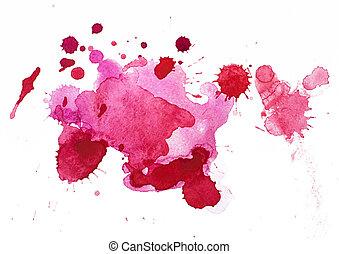 blots, watercolour