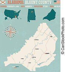 Blount County in Alabama USA