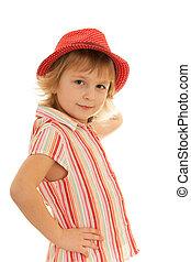 blouse, weinig; niet zo(veel), mode, gestreepte , meisje