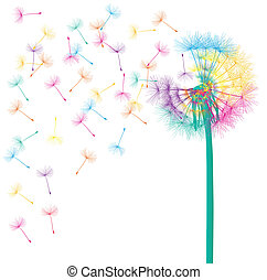 Blow dandelion vector abstract background concept for poster