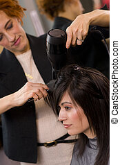 Blow Dry - A haircut and blow dry at the salon