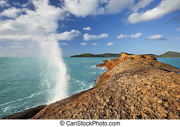 Blow Hole At The Coast, Antigua