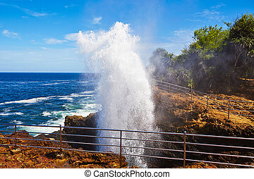 Blow hole - Natural fountain in Hummanaya, Sri Lanka