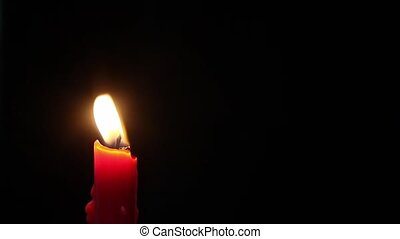 BLow Out Red Candle
