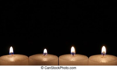 blow out the candle - turn off candles and black out