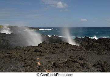 Blowhole - Blow hole on the road to Hana