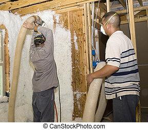 Blowing Foam into a wall
