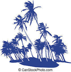 Blowing Palm Trees - great one color design of blowing in ...