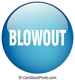 blowout blue round gel isolated push button